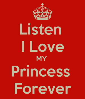 Love You My Princess Quotes