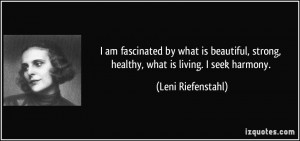 Leni Riefenstahl Quotes
