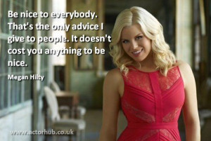 Inspirational and Motivational Quote from Broadway Actress Megan Hilty ...