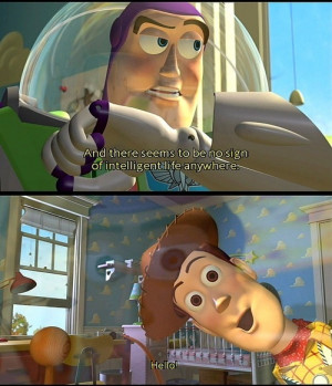 buzz lightyear, disney, movie, quote, text, toy story, woody