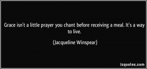Jacqueline Winspear Quote