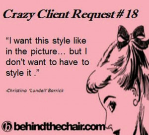 Hair Stylist Quotes Hairstylist's annoyance!