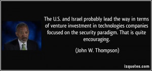 The U.S. and Israel probably lead the way in terms of venture ...