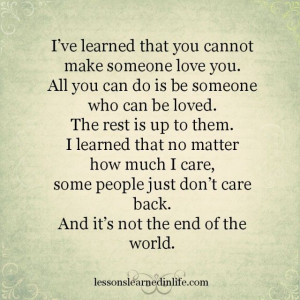 Lessons Learned in Life | I learned.