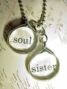 SOUL SISTER NECKLACE- Soldered Collage Art Charm Glass Bubble Pendant ...