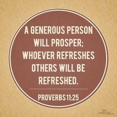 generosity is contagious More