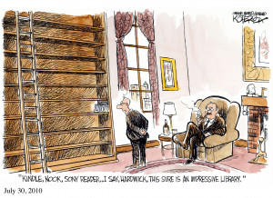 ... this sure is an impressive library - a cartoon by Jeffery Koterba
