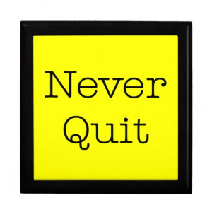 Never Quit Quotes Yellow Inspirational Quote Gift Boxes