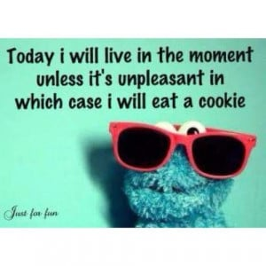 Check out some cute funny sayings by Cookie Monster.