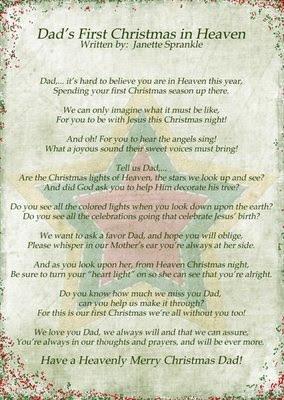 heaven christmas in heaven poems christmas memories of an angel ...