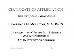 Example Certificate of Appreciation by kiw17056