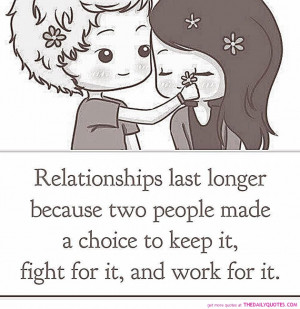 ... Quotes: Relationships Last Longer Quote And The Picture Of Cute Couple
