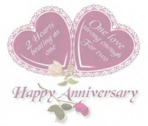 Two Hearts Beating As One ~ Anniversary Quote