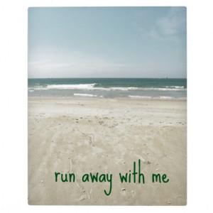 Romantic Beach Design with Quote Photo Plaques
