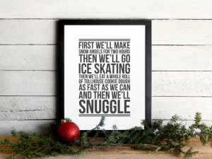 Elf Movie Quote Poster - Christmas To-Do List - Vintage Modern ...