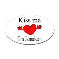kiss me i#39;m jamaican decal £3