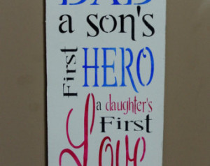 Father Son Love Quotes Wood sign gift for father dad