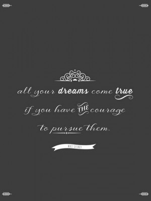 Inspirational Quote, Walt Disney Quote, Chalkboard Poster, Vintage ...