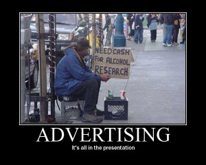 advertising sarcastic motivational poster