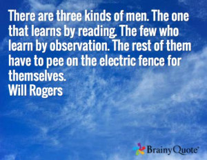 ... fence for themselves. Will Rogers: Rogers Quotes, Brainyquote Com