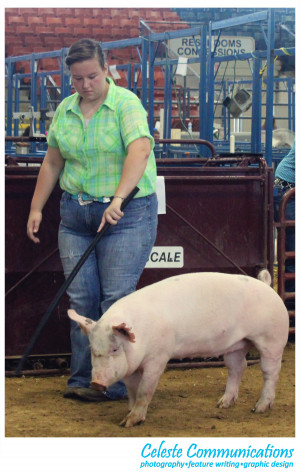 Lexie may be a first time showman but she doesn't dress like it.