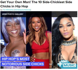 ... Embarrassed After Landing On VH1′s 'Notorious Side Chicks' List