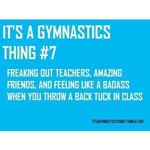 its a gymnastics thing.