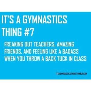 its a gymnastics thing.