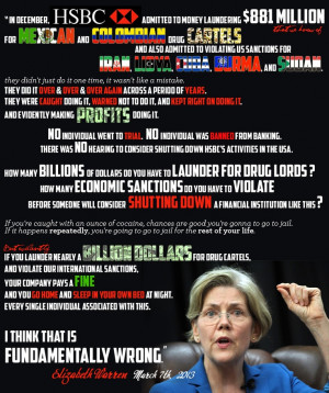 Elizabeth Warren on HSBC