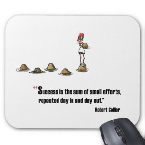Motivational exam quote by Robert Collier Mouse Pad