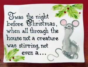 Twas the night before Christmas Mousefoot print…..Painted Zebra ...