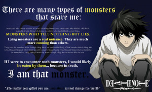 Lawliet: Monster that scare me/Change the world by mickeyelric11