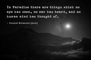 Prophet Muhammad Quote: In Paradise…