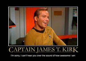 captain james kirk star trek motivational poster