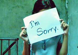 Accepting Blame and Asking for Forgiveness