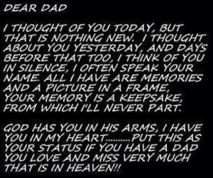Dear Dad in Heaven... ♥: Happy Birthday, Inspiration, Dads Quotes ...