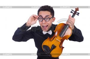 Funny violin player on white - © Elnur
