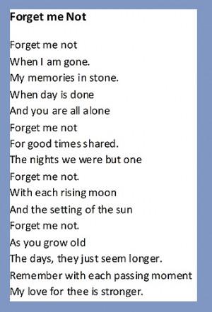 In Memoriam Verses
