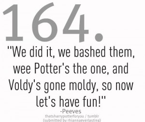 Peeves didn't get NEARLY enough focus in the movies as he had in the ...