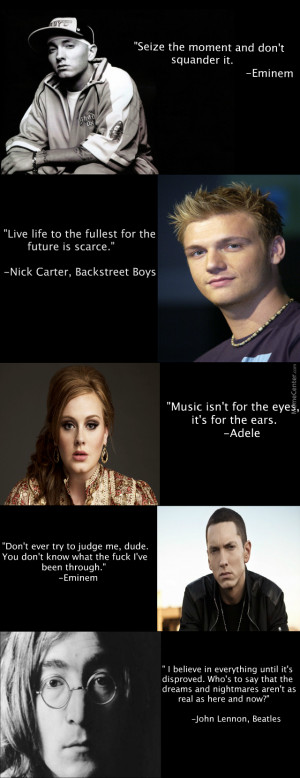 Inspirational Quotes From Singers