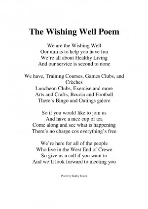 The Wishing Well Poem by sdfsb346f