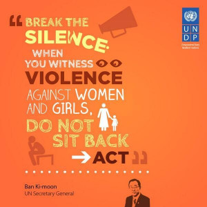 ... back: act to stop violence against women! www.undp.org/stoptheviolence
