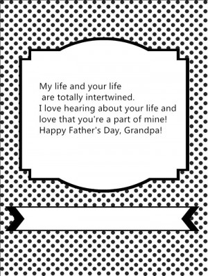 ... And Love That You're A Part Of Mine! Happy Father's Day, Grandpa