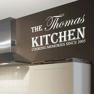 Details about Personalized Kitchen Name Art Wall Sticker Quotes, Wall ...