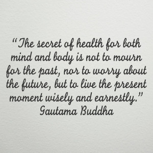 Vinyl Wall Decal - Buddha quote - The Mind Secret of Health