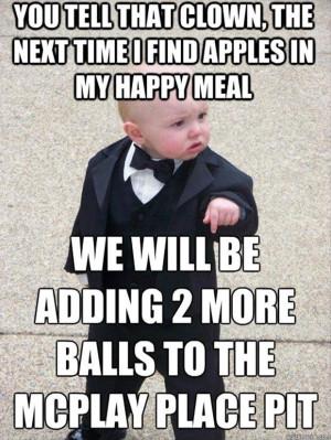 baby meme funny mcdonalds happy meal