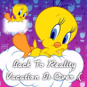 Back From Vacation :(