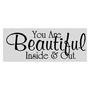 You are beautiful...Wall Quotes Words Sayings Removable Wall Lettering ...