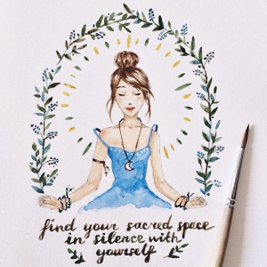 Find your sacred space in silence with yourself