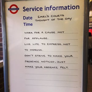 tfl #london #tube #quoteoftheday #quotes #quote ...